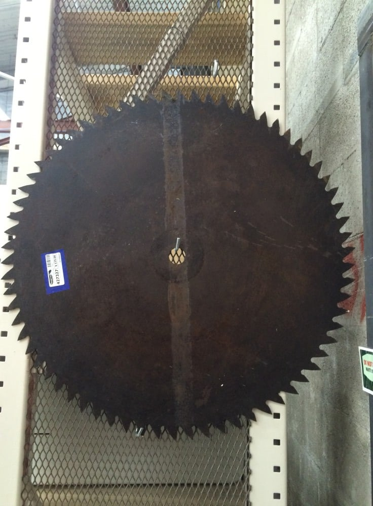 Now that's a saw blade! Swap out your Halloween Wreath for this guy and you'll be the fright of the neighborhood.