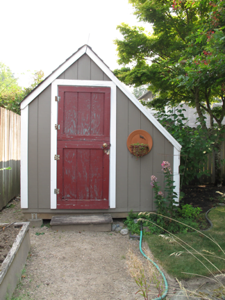 Beau Before: A U201cchintzy Dutch Dooru201d (Marku0027s Words) Serves As The Entrance To The Garden  Shed.